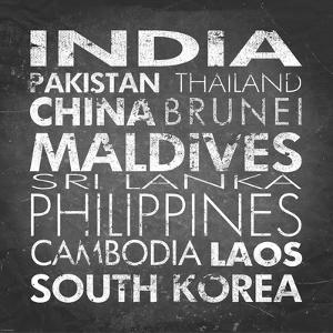 Asia Countries by Veruca Salt