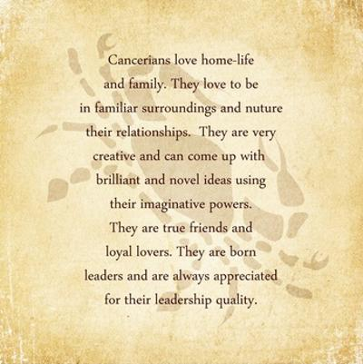 Cancer Character Traits by Veruca Salt