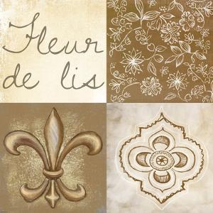 Fleur de Lis Square by Veruca Salt