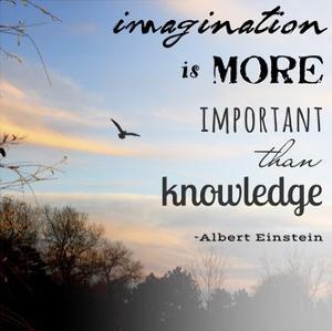 Imagination is More Important Than Knowledge - Albert Einstein by Veruca Salt