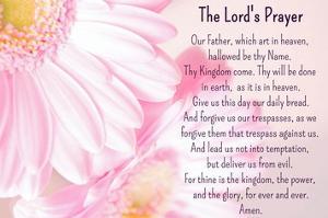 Lord's Prayer - Floral by Veruca Salt