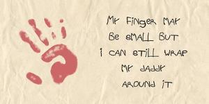 My Finger May Be Small Kids Writing by Veruca Salt
