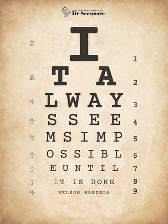 Nelson Mandela Eye Chart II