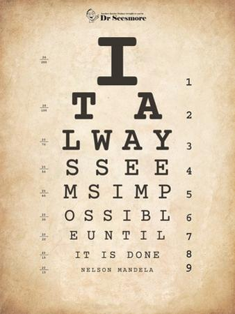 Nelson Mandela Eye Chart II by Veruca Salt