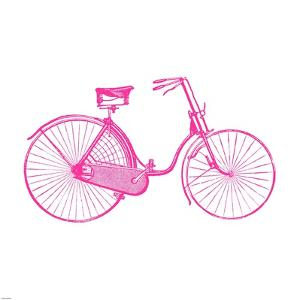 Pink On White Bicycle by Veruca Salt