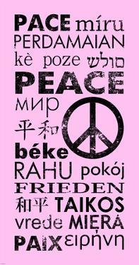 Pink Peace Languages by Veruca Salt