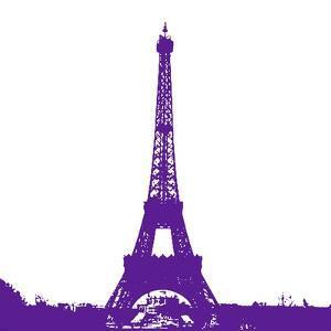 Purple Eiffel Tower by Veruca Salt