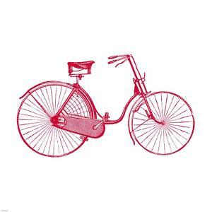 Red on White Bicycle by Veruca Salt