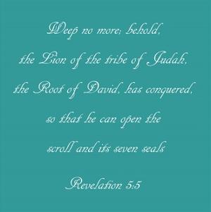 Revelation 5:5 - blue by Veruca Salt