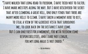 Road to Freedom - Nelson Mandela Quote by Veruca Salt