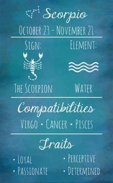 Scorpio Zodiac Sign by Veruca Salt