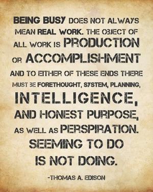 Seeming to Do is Not Doing -Albert Einstein by Veruca Salt