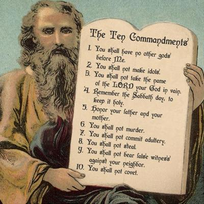 Tablets of the Ten Commandments by Veruca Salt