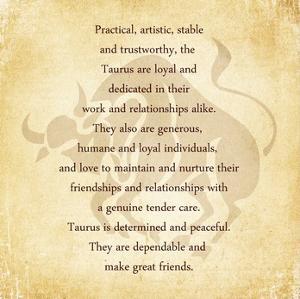 Taurus Character Traits by Veruca Salt