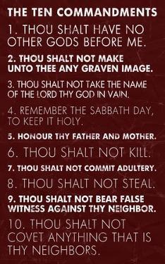Ten Commandments - Red Grunge by Veruca Salt