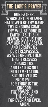 The Lord's Prayer - Chalkboard Style by Veruca Salt