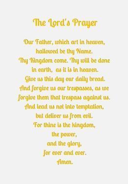 The Lord's Prayer - Gold by Veruca Salt