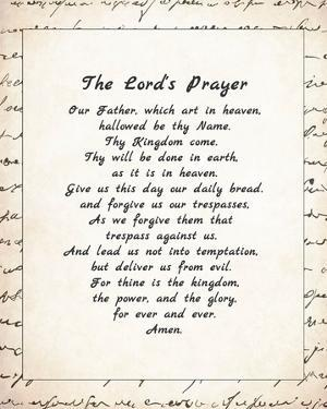 The Lord's Prayer - Script by Veruca Salt