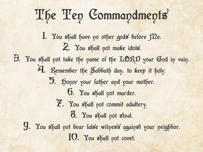 photo regarding 10 Commandments Poster Printable identify Cost-effective 10 Commandments Posters for sale at