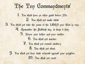 The Ten Commandments by Veruca Salt