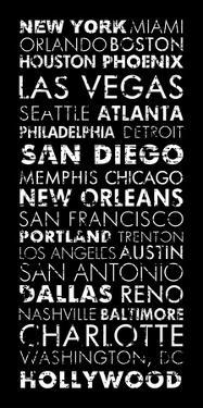 USA Cities Black by Veruca Salt