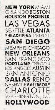 USA Cities White by Veruca Salt