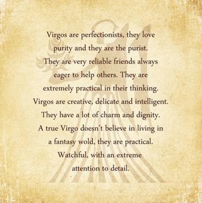 Virgo Character Traits by Veruca Salt