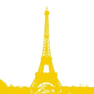 Yellow Eiffel Tower by Veruca Salt