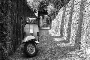 Vespa In Alley Amalfi, Italy Poster