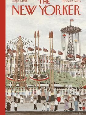 The New Yorker Cover - September 6, 1958 by Vestie E. Davis