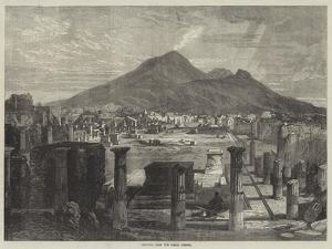 Vesuvius, from the Forum, Pompeii