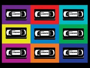 VHS Tapes Pop Art Print Poster