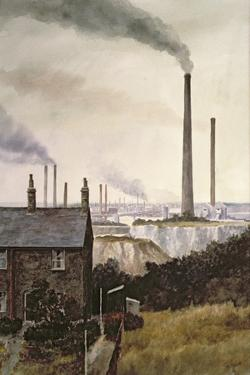 North Kent Landscape - Nr. Northfleet, Gravesend by Vic Trevett