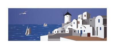 Molino en Santorini