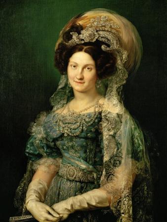 Maria Cristina De Bourbon, Queen of Spain, 1830 by Vicente López Portaña
