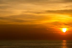 Beautiful Sunset at Andaman Sea Krabi Phuket Thailand by vichie81