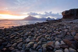 Beautiful Sunset at Stony Beach Elgol Isle of Skye Highland Scotland by vichie81