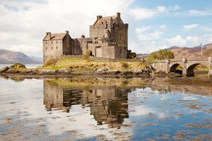 Closeup of Reflection of Eilean Donan Castle, Highland Scotland. by vichie81