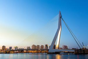 Erasmus Bridge over the River Meuse in , the Netherlands by vichie81