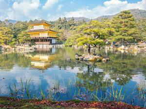 Golden Pavilion Kinkakuji Temple in Kyoto Japan by vichie81