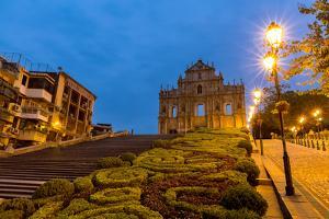 Macau Ruins of St. Paul's. Built from 1602 to 1640, One of Macau's Best known Landmarks. in 2005, T by vichie81