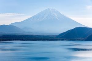 Mountain Fuji Fujisan with Motosu Lake at Yamanashi Japan by vichie81
