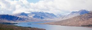 Panorama Snow Mountain Range and Lake Landscape at Scotland Highland Area United Kingdom by vichie81
