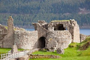 Ruins of Urquhart Castle at Loch Ness Inverness Highlands Scotland UK by vichie81