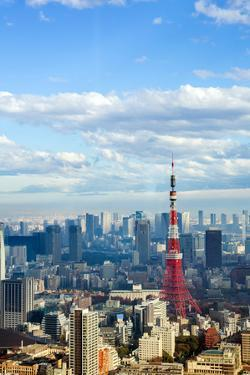 Tokyo Tower with Skyline Cityscape in Japan by vichie81