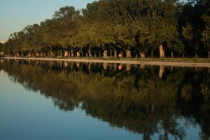 A Runner on a Morning Jog Along the Potomac River on the National Mall by Vickie Lewis