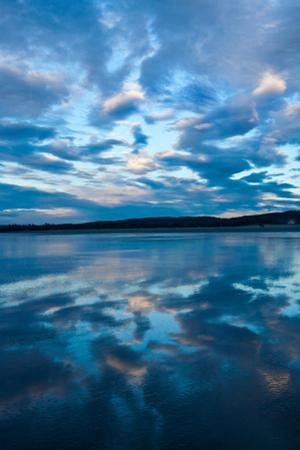 Clouds Reflect Off the Wet Sand on a Wide Beach by Vickie Lewis