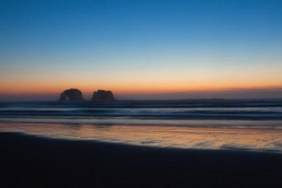Oregon's Twin Rocks at Sunset by Vickie Lewis