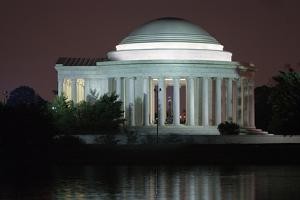 The Jefferson Memorial Illuminated at Dusk by Vickie Lewis