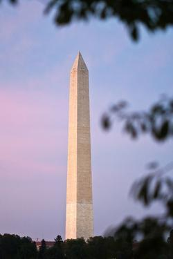 The Washington Monument at Sunset by Vickie Lewis